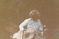 Young Vern with guitar in band